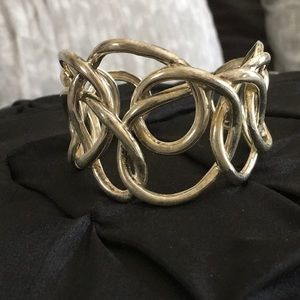 Scribble Silver Cuff